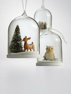 Top Quality Unique Personalized Gifts at Red Envelope via http://www.AmericasMall.com/redenvelope-gifts Christmas Snow Globe Tree Ornaments #redenvelope #gifts #personalizedgifts