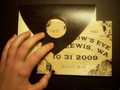 Ouija Board (Halloween) Invitation package (set of 10). $100.00, via Etsy.