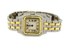 Cartier Panthere 18k Gold Steel Watch Available in the April 27 Auction on hamptonauction.com !!