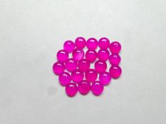 Classy Hot Pink Chalcedony Round Shape Cabochon 10 by StarGemBeads