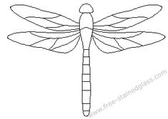 free mosaic patterns | dragonfly stained glass patterns decoration.