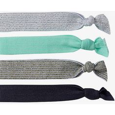 Express 4-Pack Yoga Hair Ties - Mint (320 PHP) ❤ liked on Polyvore featuring accessories, hair accessories, hair, twist hair ties, yoga headbands, tie headbands, sparkly headbands and braided headwrap