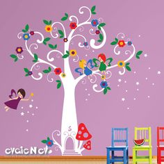 fairy tree w/ flowers