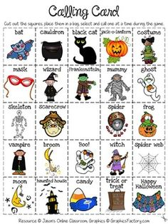 halloween bingo create your own luck kids get to create their own bingo board - Esl Halloween Games