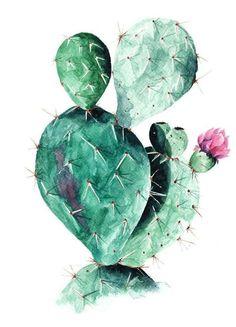 Cactus als Leinwandbild von Annet Weelink Design | JUNIQE