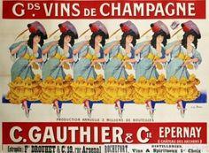 Gds Vins de Champagne Poster by Casimir Brau (1910)