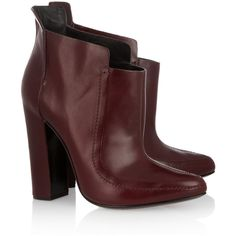 Alexander Wang Leather ankle boots ($278) ❤ liked on Polyvore featuring shoes, boots, ankle booties, ankle boots, обувь, alexander wang, burgundy, short boots, burgundy leather boots and burgundy booties
