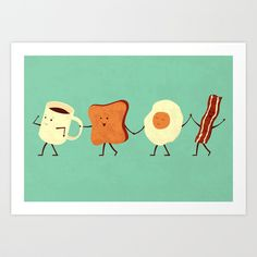 Let's All Go And Have Breakfast Art Print by Teo Zirinis | Society6