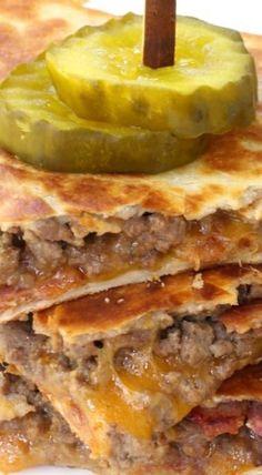 Bacon Cheeseburger Quesadillas