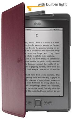 Amazon Kindle Lighted Leather Cover, Wine Purple (does not fit Kindle Touch or Kindle Keyboard)