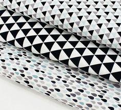 "Scandinavian Nordic Style Pattern 20s Cotton Fabric -20s Cotton 100% Fabric / Total Width & Length: 43""X 35"" (110cm X 90cm) - Rain Drop Size:"