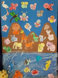Havda Karada Suda Yasayan Hayvanlar Okuloncesi Education Art Ve