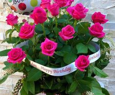 Birthdays & Other Greetings 🎉🎁💝 Happy Birthday Rose, Birthday Poems, Happy Birthday Cards, Birthday Greetings, Birthday Wishes For Myself, Fall Wedding Flowers, Happy B Day, Birthday Pictures, Flower Cards