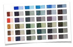 Watercolor mixing cheat sheets. http://resources.arttutor.com/watercolour-cheat-sheets-fb/