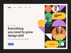 Geometric Pattern Design, Ui Web, Design System, Co Working, Web Layout, Website Design Inspiration, Social Media Design, Interactive Design, Page Design