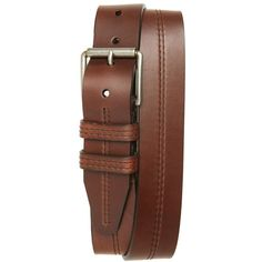 Men's 1901 Mason Center Stitch Horween Leather Belt ($70) ❤ liked on Polyvore featuring men's fashion, men's accessories, men's belts, belts, brown, mens brown leather belt, mens leather belts, mens real leather belts and mens leather accessories