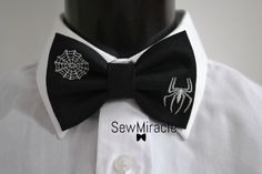 Items similar to Halloween bow tie - Men's bow tie - Silver Spider and Web embroidery - Halloween - Unusual - Gift for him - Gift ideas on Etsy Bowties, Spider, Fans, Shops, Relax, Etsy Shop, Halloween, Trending Outfits, Unique Jewelry