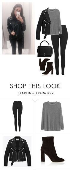 """""""OOTD"""" by hernandezjenni ❤ liked on Polyvore featuring Topshop, MANGO, Yves Saint Laurent, Gianvito Rossi, Carven, women's clothing, women, female, woman and misses"""