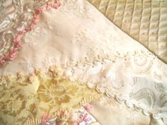Pretty detailing on crazy quilt