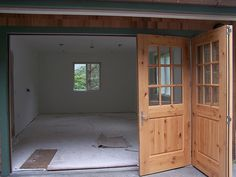 Horizontal Sliding Garage Doors great idea for an old crab trap - bleach the wood and put a glass