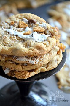 These S'mores Cookies are so good! They have the familiar comfort of chocolate chips, the chewy texture of a brownie and the yummy flavors o...