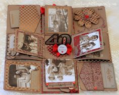 Love Ilda's Explosion Box from the EXPLOSION BOX SVG KIT.  It's for an anniversary and here it is opened up!  It's just fabulous!  Love the antique feel it has!