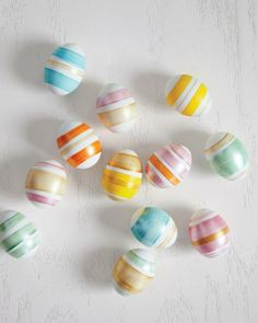 Striped Easter Eggs How-To