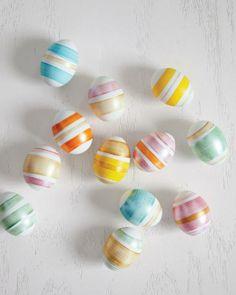 DIY Striped Easter Eggs
