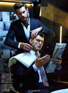 MEN'S FASHION STYLE SPRING/SUMMER 2014 EDITORIAL (3): GQ Italia February: Enriched Italian Men's Sartorial Sophistication