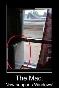 Apple Humor | The Mac Now Supports Windows | Funny Technology - Google+ via Charlie Sasser