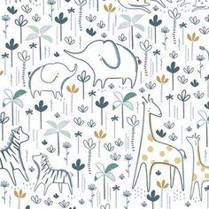 Doodle Patterns, Kids Patterns, Fabric Patterns, Baby Fabric, Design Research, Safari Nursery, Nursery Bedding, Surface Pattern Design, Animal Design