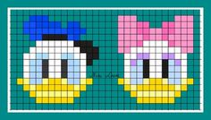 theme mickey donald et cie Loom Beading, Beading Patterns, Pixel Art Minecraft, Theme Mickey, Modele Pixel Art, Perler Bead Disney, Pix Art, Pixel Pattern, Melting Beads