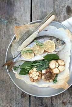 Whole Fish with Garlic, Lemon and Herb