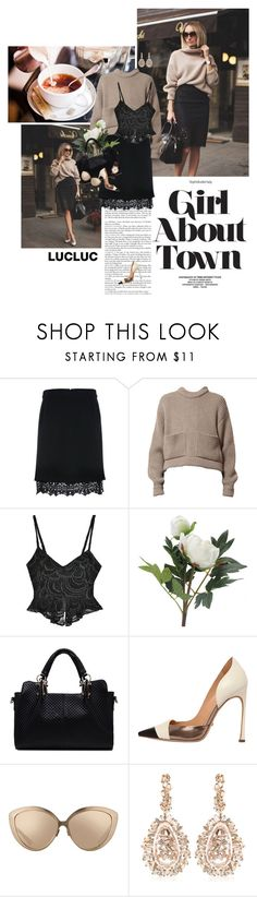 """""""Girl about town (LUCLUC 4)"""" by crazy-daisy1 ❤ liked on Polyvore featuring ODYLYNE, OKA, Sergio Rossi, Linda Farrow, Nixon, Suzanne Kalan and lucluc"""
