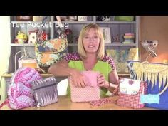 Sewing a three pocket bag! by Debbie Shore - YouTube