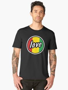 6a82a9d86 Buy 'Love Badge | Reggae Designs' by Teodor-T as a T-