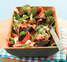 Roast beetroot salad with feta and mint recipe | Australian Healthy Food Guide