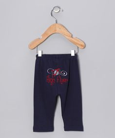 Look what I found on #zulily! Navy 'High Flyer' Airplane Pants - Infant #zulilyfinds