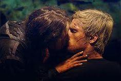 Katniss and Peeta first kiss