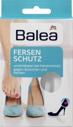 Gegen Rutschen und Druckstellen: Balea Fersenschutz. Die transparenten, extradünnen Gel-Polster für Ihre Ferse haften am Schuh und passen sich optimal an....