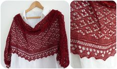 So pretty! Check out the lacy detail on this shawl -- free knitting pattern from Madeline's Wardrobe is based on traditional Estonian designs.