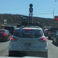 The Tom-Tom street view car is driving through Anniston.