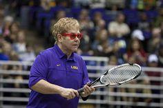 Elton doing tennis