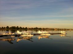 Sunrise at YVR Flying Boat, Sunrise, Base, Sky, River, Outdoor, Heaven, Outdoors, Heavens