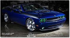 deep water blue, convertible 2009 Dodge Challenger R/T 2009 Dodge Challenger, Dodge Hemi, Audi, Bmw, Modern Muscle Cars, American Muscle Cars, My Dream Car, Dream Cars, Dream Big