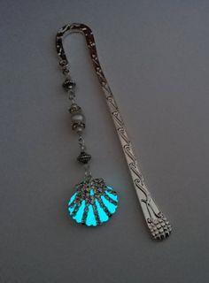 Ariel Bookmark - Mermaid Aqua Glow In The Dark Bookmark - Glowing Bookmark