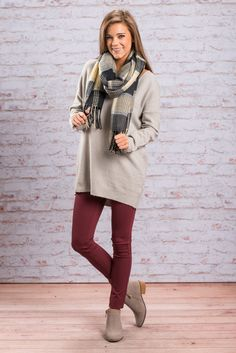 """""""Trust In Trendy Sweater, Gray"""" You can trust that this trendy sweater will be a fab addition to anyone's wardrobe! We love the soft gray color and the fabulous fabric! But that crisscross back is where the real magic happens!  #newarrivals #shopthemint"""