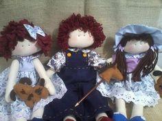 Arte Alegria artesanatos: Bonecos de pano para decoração.