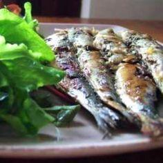 Sardines grillées marinées au citron et au thym
