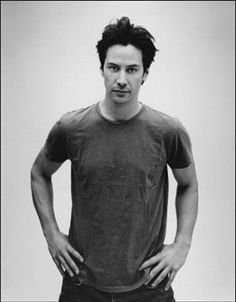 WHY DO WE LOVE KEANU? Because of these shoots where he's just wearing a t-shirt and jeans. Comfortable. Classic. Cool. Done. (chicfoo) keanu